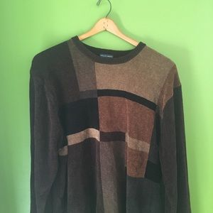 Falls Creek Color Block Dad Pullover Sweater